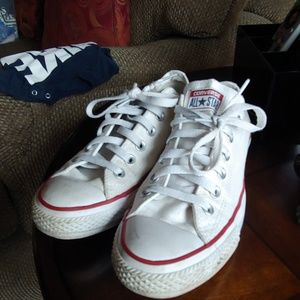 White Converse All Star shoes size women's 8